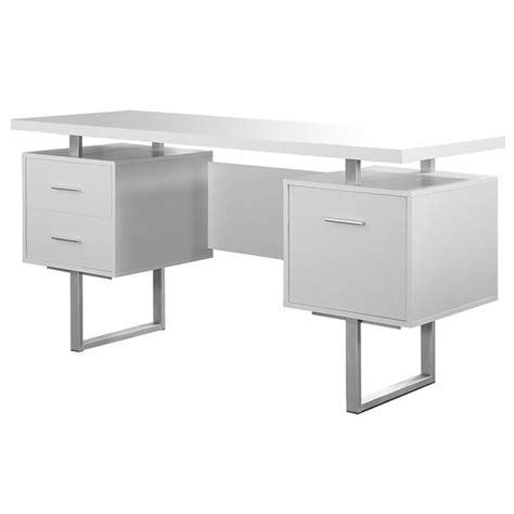 60 office desk 60 quot hollow office desk in white i 7081