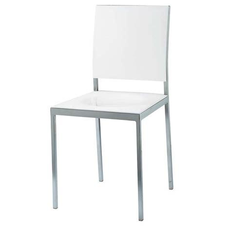 chaise plastique blanche chaise en plastique et m 233 tal blanche oslo maisons du monde