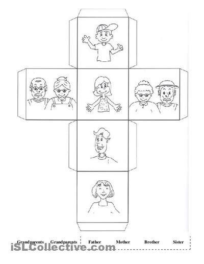 kindergarten activities on family 16 best images of family member worksheets printable