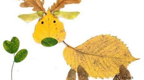 membuat kolase dari daun kering karya unik bentuk hewan ini terbuat dari dedaunan youtube