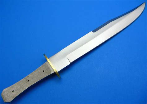 brass knife guard knife blade blank tang fixed large bowie style