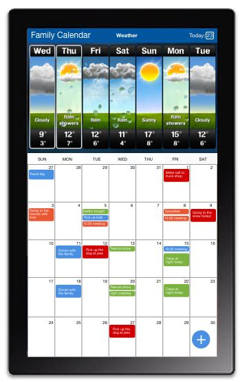 Electronic Wall Calendar Enjoycal Digital Wall Calendar Electronic Wall Calendars