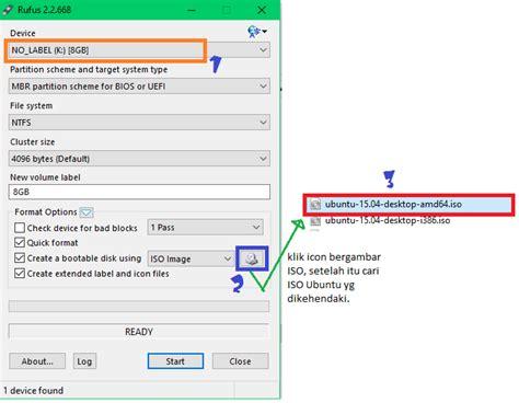 tutorial rufus 2 2 668 gambar membuat bootable linux ubuntu di flashdisk
