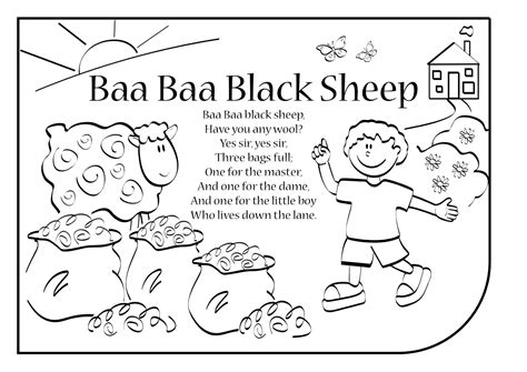 coloring page baa baa black sheep baa baa black sheep coloring page coloring page for kids