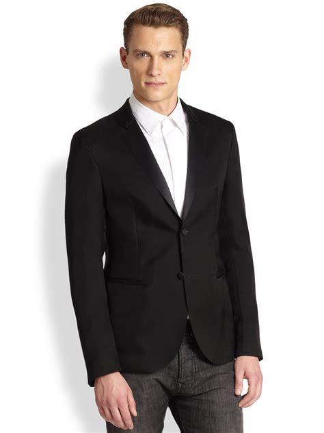 emporio armani tuxedo jacket in for men lyst