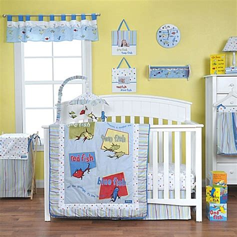 dr seuss crib bedding trend lab 174 dr seuss one fish two fish crib bedding