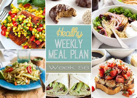 healthy dinner desserts healthy weekly meal plan 56 healthy easy