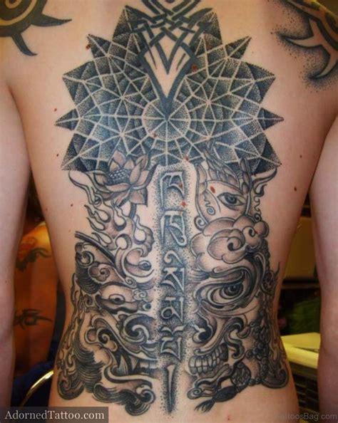 geometric back tattoos 33 duper geometric on back