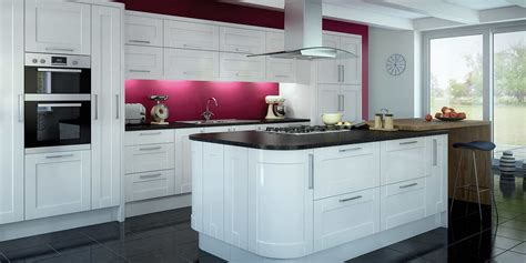 Glossy Cabinets by Kitchen Cabinets White Gloss