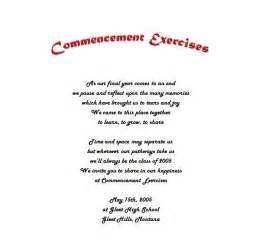 graduation announcements commencement exercises 2 wording free templates