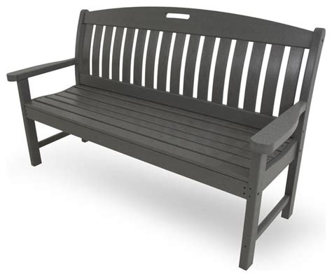 eco friendly benches eco friendly bench in slate grey contemporary outdoor benches by shopladder