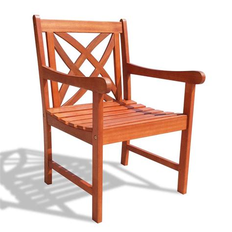 Patio Dining Chair Shop Vifah Eucalyptus Patio Dining Chair At Lowes