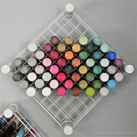 Craft Room Organization Pvc And Wire Shelf Paint Storage