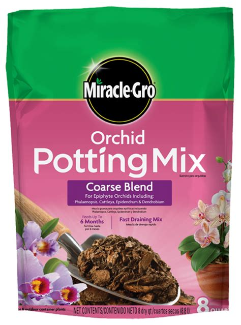 miracle gro orchid potting mix coarse blend soils