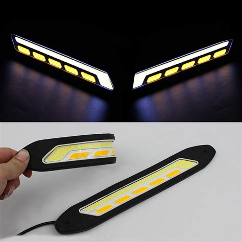 universal led car daytime running daylight drl fog light new led drl flexible daytime running light waterproof