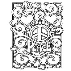 peaceful patterns coloring pages pics for gt peace love happiness coloring pages