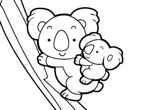dibujos para colorear koala dibujo de madre koala para colorear dibujos net