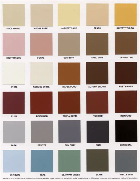 concret stain colors available at lowes ask home design