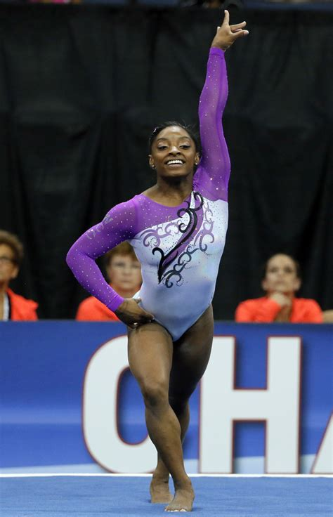 Floor Urn by Simone Biles On Top Again At Us Gymnastics Championships
