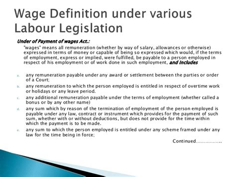 wage meaning wage concept and wage meaning in variuos act