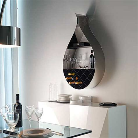 wine wall decorating dining room wall mounted wine rack adds seducing drop shaped design to