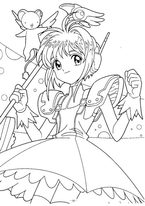 coloriage card captor sakura page 2