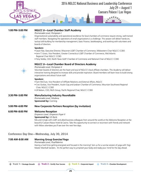 offsite agenda template nglcc 2014 national business leadership conference