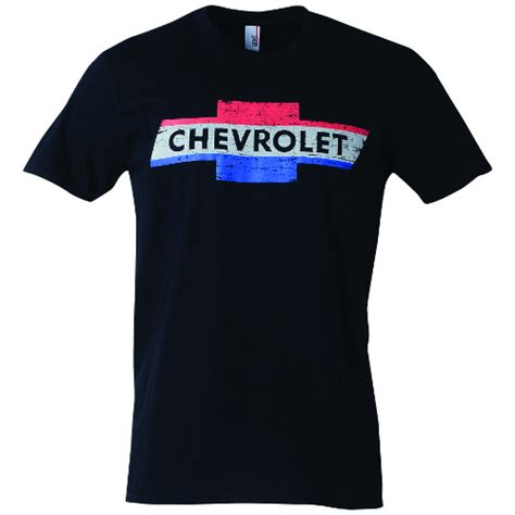 chevrolet vintage white and blue t shirt chevymall