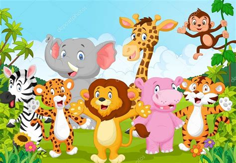 imagenes vectoriales animales gratis dibujos animados de animales colecci 243 n 193 frica en la selva