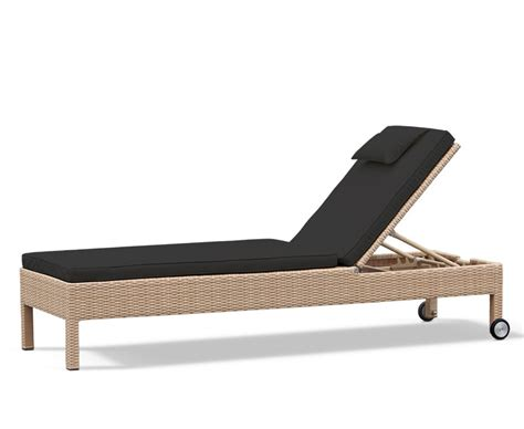 reclining garden lounger rio rattan recliner garden sun lounger with wheels