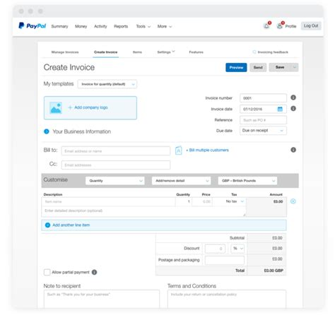simple invoice paypal invoice template pay invoice paypal