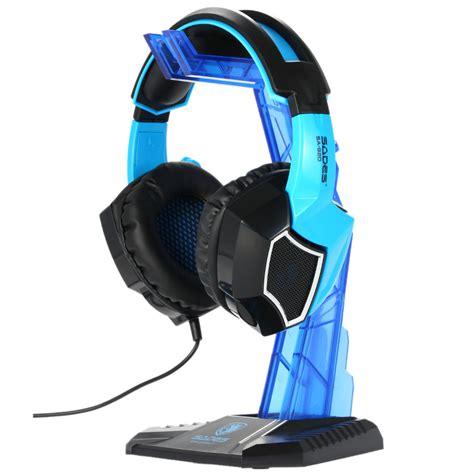 sades universal gaming headphone hanger blue jakartanotebook