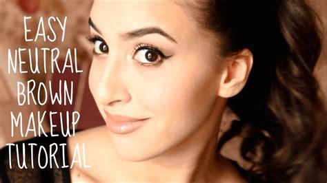 eyeliner tutorial for beginners youtube easy neutral brown smokey eye makeup tutorial i winged