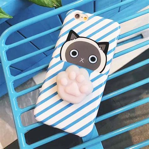squishy cat claw for iphone 6 plus 6s plus blue jakartanotebook