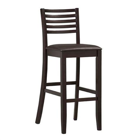 30 inch high bar stools linon triena 30 high ladder bar stool in espresso