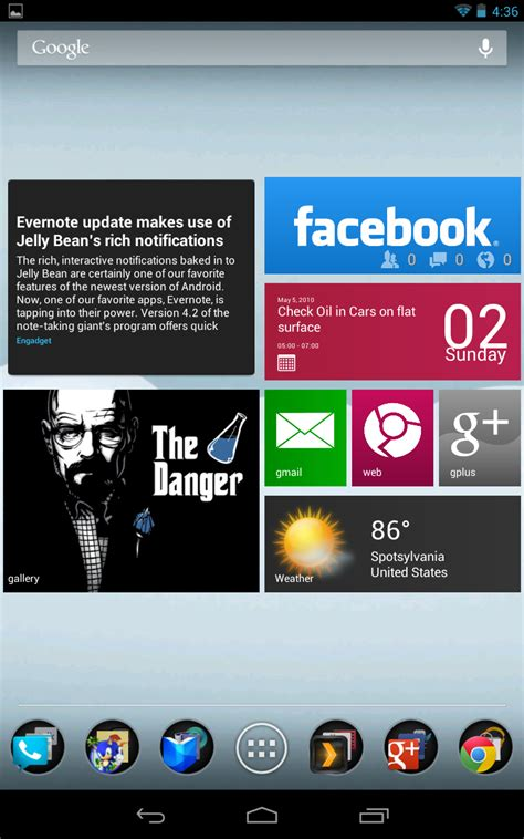 news widgets for android review metro ui hd widget tile win 8 for android tapscape