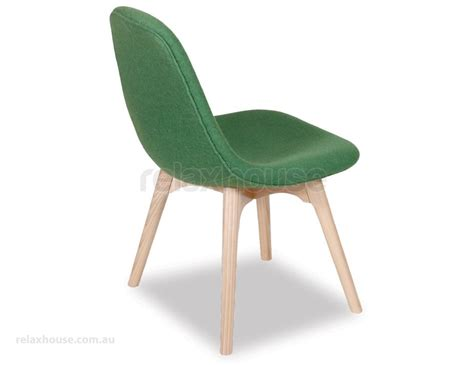green wool solid ash modern contour dining chairs