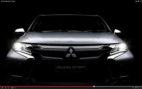 Outer Mitsubishi All New Pajero 2017 Mitsubishi Teases The New 2016 Pajero Sport Again This