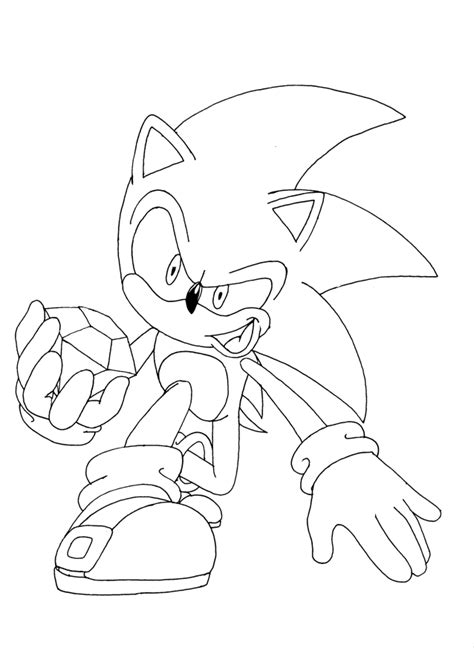 Free Printable Sonic The Hedgehog Coloring Pages For Kids Sonic Picture To Color