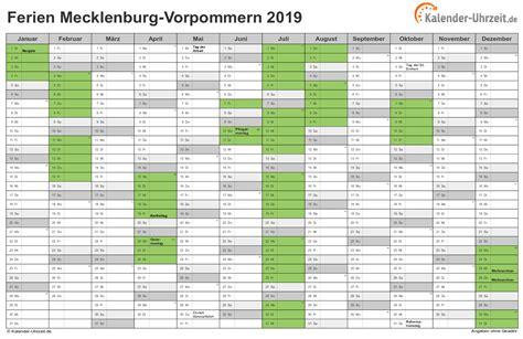kalender  schulferien mecklenburg vorpommern kalender