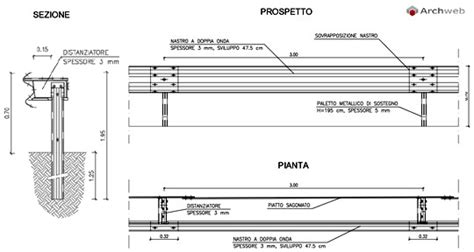 porte autostradali sezioni stradali section guard rail dwg