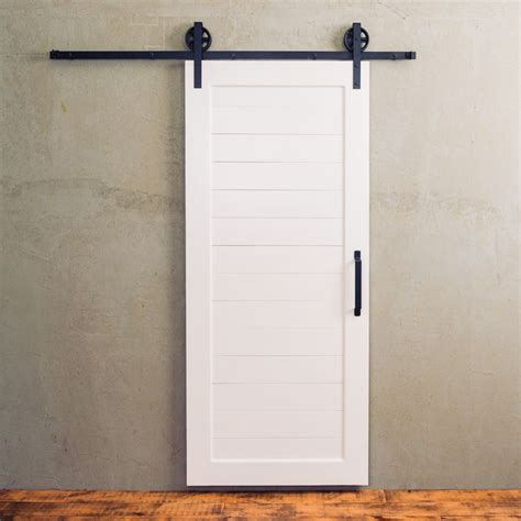 there s something special about a simple white barn door