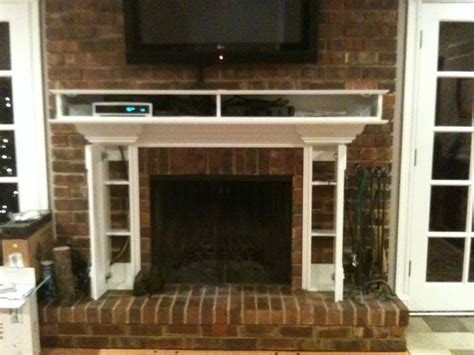 Tv Above Fireplace Mantel by 13 Best Images About How To Hide Components On Fireplace