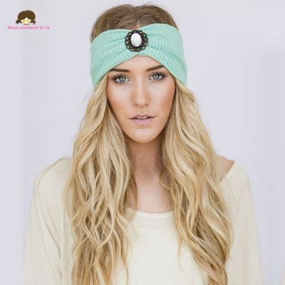 2016 new fashion wool accessory winter warm floral stretch turban soft knit