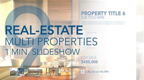Real Estate Multi Properties 1min Slideshow 9 Final Cut Pro X Template Cut Pro X Slideshow Template