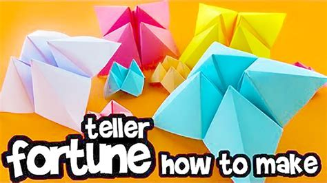 How To Make A Paper Fortune Teller Easy - how to make a paper fortune teller fold origami chatterbox