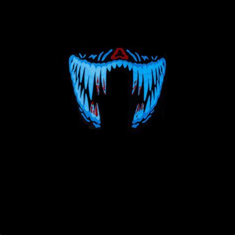 Masker Led led masker blue festival shop