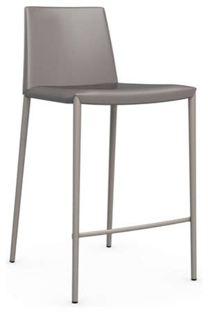 Taupe Leather Bar Stools boheme leather counter stool taupe modern bar stools