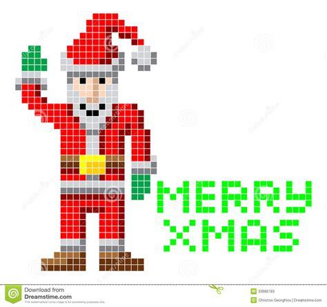 best pixel merry christmas retro pixel santa stock vector image 33666793