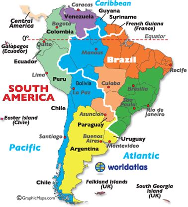 south america map countries and capitals south america travel my road